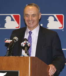 MLB COO Rob Manfred is considered the frontrunner to take over for Bud Selig. (AP Photo)