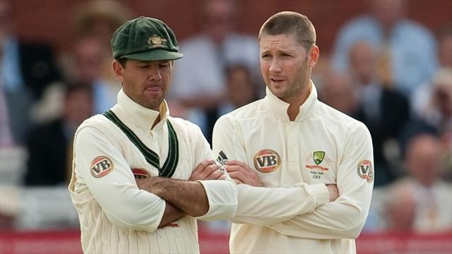 Cricket - Ponting buries hatchet with Clarke