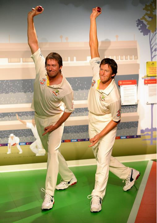CORRECTION-CRICKET-AUS-MCGRATH-WAX