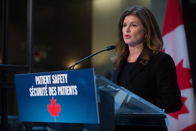 Federal Health Minister Rona Ambrose announces new regulations aimed at pharmaceutical companies during a news conference at Vancouver General Hospital in Vancouver, B.C., on Tuesday February 10, 2015. Canada's health minister says companies will be required to post drug shortages on a new website or risk being named and shamed. THE CANADIAN PRESS/Darryl Dyck