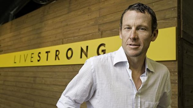 CYCLING Lance Armstrong at Livestrong