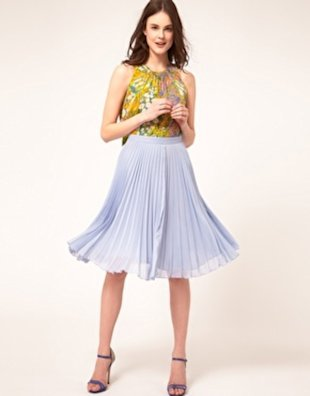 Short Chiffon Pleated Skirt