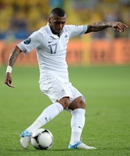 French midfielder Yann M'Vila controls the ball during the Euro 2012 football championships match Sweden vs France on June 19, 2012 at the Olympic Stadium in Kiev. AFP PHOTO / FRANCK FIFEFRANCK FIFE/AFP/GettyImages
