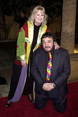 John Rhys Davies and gal at the Hollywood premiere of New Line's The Lord of The Rings: The Fellowship of The Ring