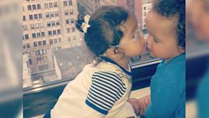 Mariah Carey's Twins Share 'Lil Kiss'