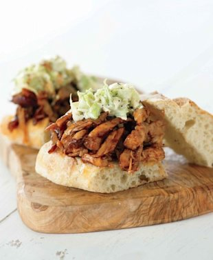 Pulled Chicken Barbecue Sandwiches