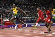 Jamaica's Usain Bolt wins the men's 100m final at the athletics event during the London 2012 Olympic Games in London