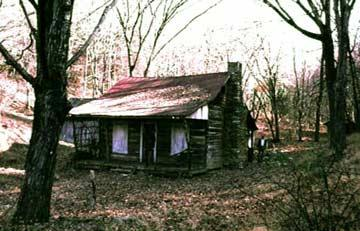 The cabin in the woods from New Line Cinema's The Evil Dead