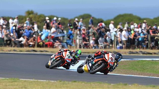 Sylvain Guintoli at Phillip Island (World Superbikes)