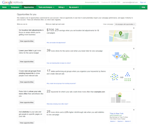 Pros & Cons of the New AdWords Opportunities Tab image opportunities tab updated adwords