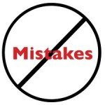 Selling Mistakes – Five Corrections for Getting Back on Track image mistakes 150x150