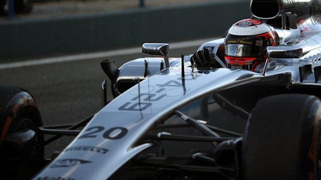 McLaren Formula One driver Kevin Magnussen of Denmark drives his drives the new MP4-29 (Reuters)