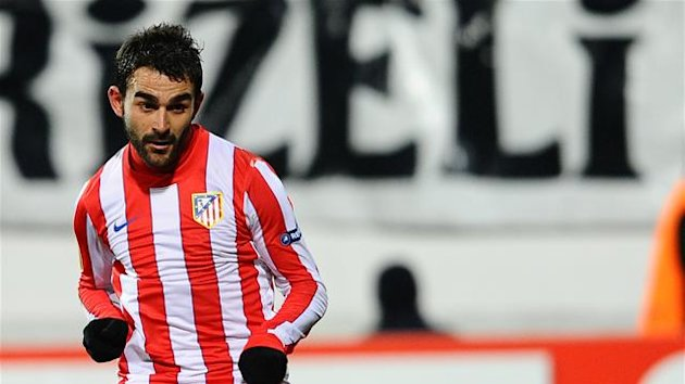 FOOTBALL Adrian Lopez of Atletico Madrid