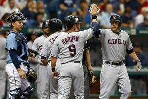 Reynolds, Indians hit Price hard, rout Rays 13-0