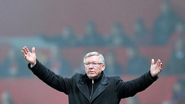 Sir Alex Ferguson, pictured, criticised the amount of injury time added by referee Chris Foy