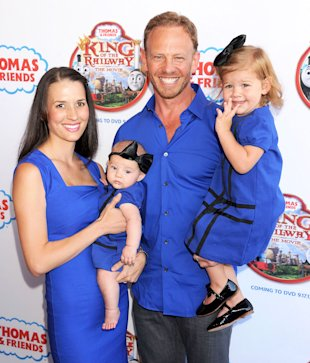 Ian Ziering with wife Erin Kristine Ludwig and daughters Mia Loren Ziering and Penna Mae Ziering