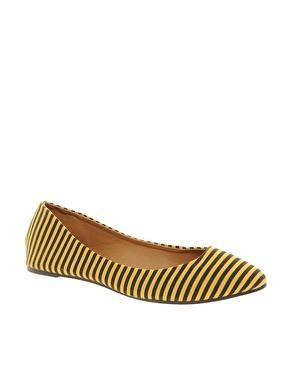 Timeless Mara Striped Flat Flats