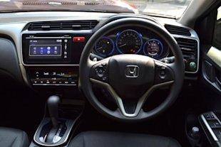 interior view of the honda city the city has a more tastefully