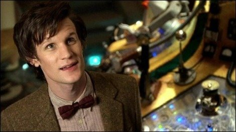 Matt Smith as the eleventh Doctor in the TARDIS