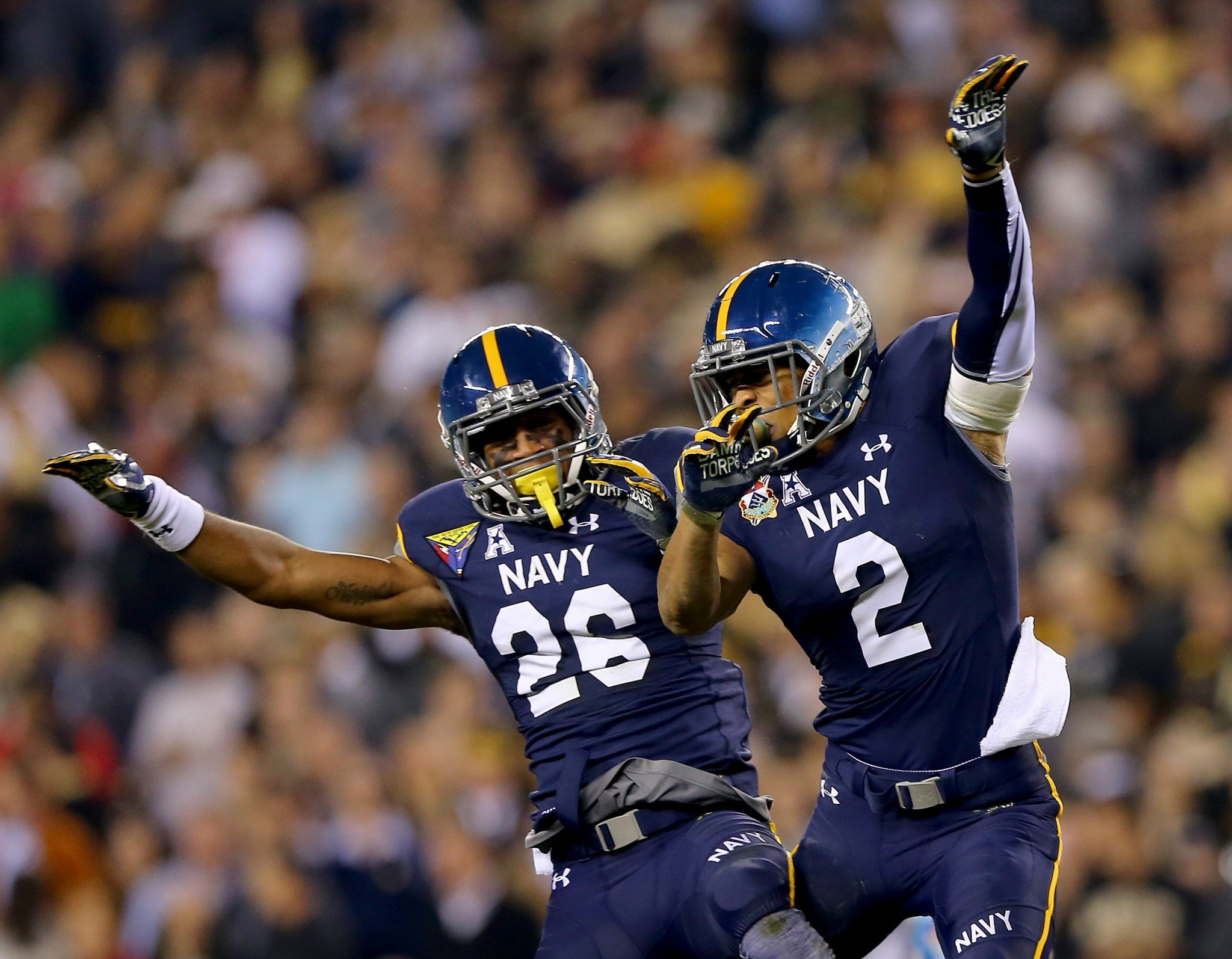 This is what Navy wore in 2015 for its 14th-straight win over Army. (Getty)