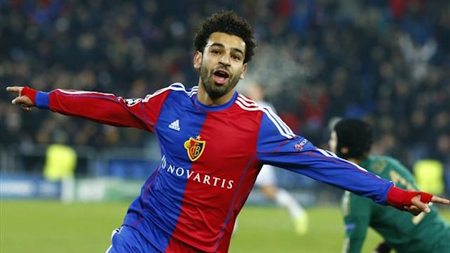 Salah scores for Basel against Chelsea (Reuters)