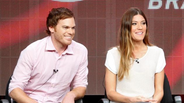 Michael C. Hall and Jennifer Carpenter speak at the 'Dexter' discussion panel during the Showtime portion of the 2012 Summer Television Critics Association tour at the Beverly Hilton Hotel on July 30, 2012 -- Getty Images