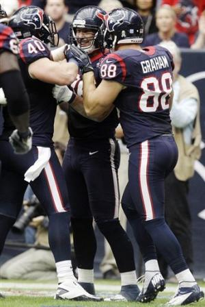 Schaub rallies Texans past Jaguars, 43-37