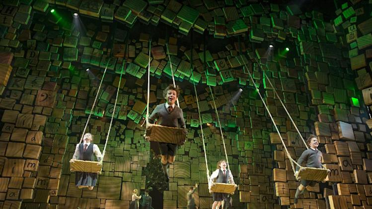 "This theater publicity image released by Boneau/Bryan-Brown shows the cast of ""Matilda The Musical,"" during a performance in New York. (AP Photo/Boneau/Bryan-Brown, Joan Marcus)"