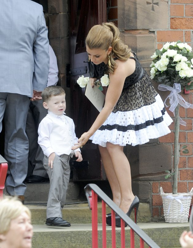 Coleen and Kai Rooney at a wedding