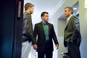 Brad Pitt , Matt Damon and George Clooney in Warner Bros. Pictures' Ocean's Thirteen