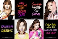 2NE1 shows their shocking lip makeups