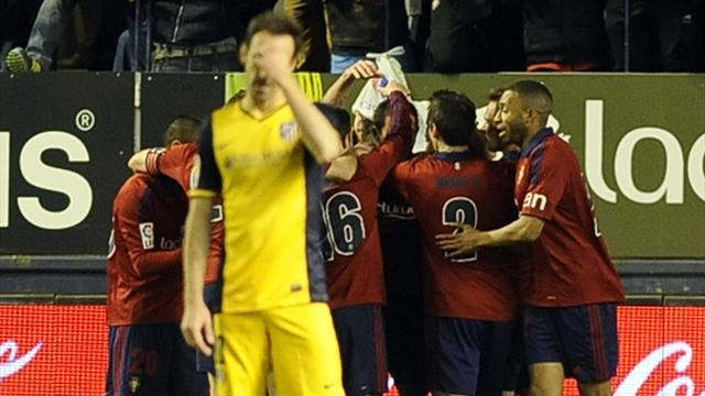 Liga - Atletico suffer Champions League hangover against Osasuna