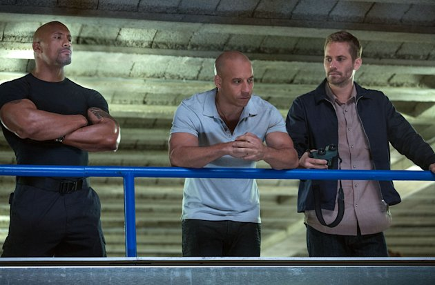 Dwayne Johnson, Vin Diesel and Paul Walker in 'Fast & Furious 6'