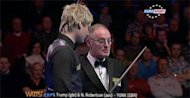 Neil Robertson asks to go to the toilet