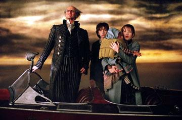 Jim Carrey , Emily Browning and Liam Aiken in Paramount Pictures' Lemony Snicket's A Series of Unfortunate Events