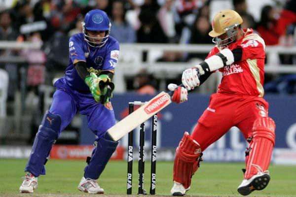Rahul played the first 3 seasons of the IPL for his home side Royal Challengers Bangalore. In the first season he was their 'Icon Player'.  Season 4 saw him go up for auction again, where he was purch