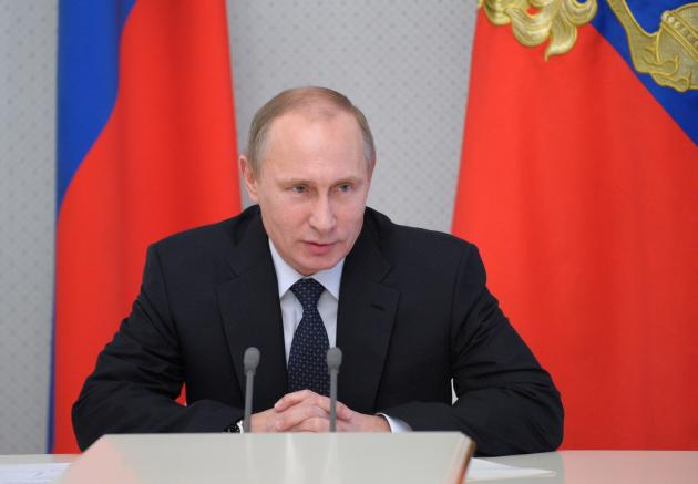 Russia's President Putin chairs a meeting on long range precision weapons at the Bocharov Ruchei state residence in Sochi
