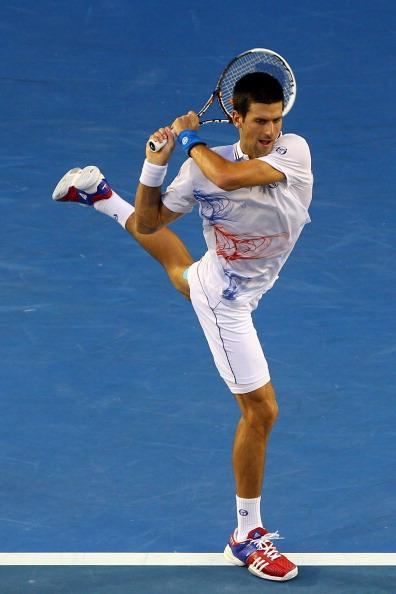 Rockin' a ballet backhand at the 2012 Australian Open