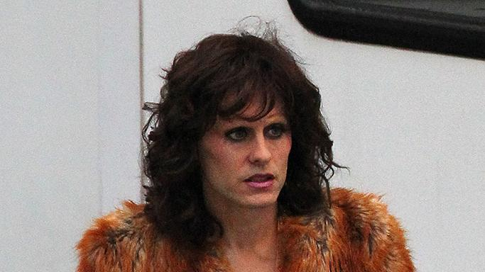 Jared Leto dressed as a transvestite in 'The Dallas Buyers Club' in New Orleans