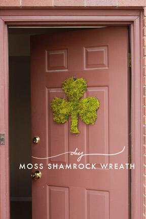 Moss Shamrock Door Wreath
