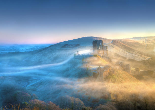 This stunning shot of Corfe Castle, Dorset, presents the historic building in a completely new light - with no computer trickery. Taken by Mike Byford, the photo was a deserving winner in the eyes of