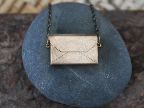 Secret Note Envelope Necklace