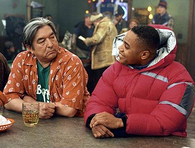 Graham Greene and Cuba Gooding Jr. in Disney's Snow Dogs