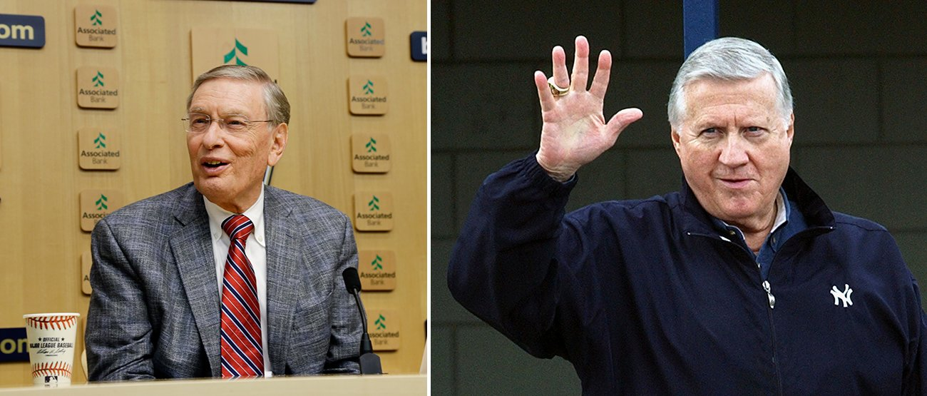 Bug Selig and George Steinbrenner are among the 10 names on the Today's Game Hall of Fame ballot. (AP)