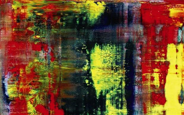 Gehrard Richter's abstract painting Abstraktes Bild