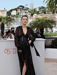 "Chinese actress Hao Lei poses during the photocall of ""Mystery"" presented in the ""Un Certain Regard"" selection at the 65th Cannes film festival in Cannes"