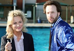 Amy Poehler and Jon Glaser | Photo Credits: Tyler Golden/NBC