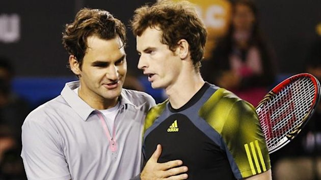 Roger Federer congratulates Andy Murray (Reuters)