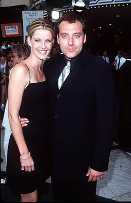 Tom Sizemore and wife at the Westwood premiere of Dreamworks' Saving Private Ryan