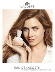 Amy Adams is the face of Eau de Lacoste, the new Lacoste fragrance for women